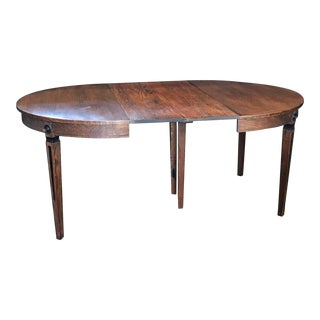 Round Louis XVI Style Oak Extendable Dining Table For Sale