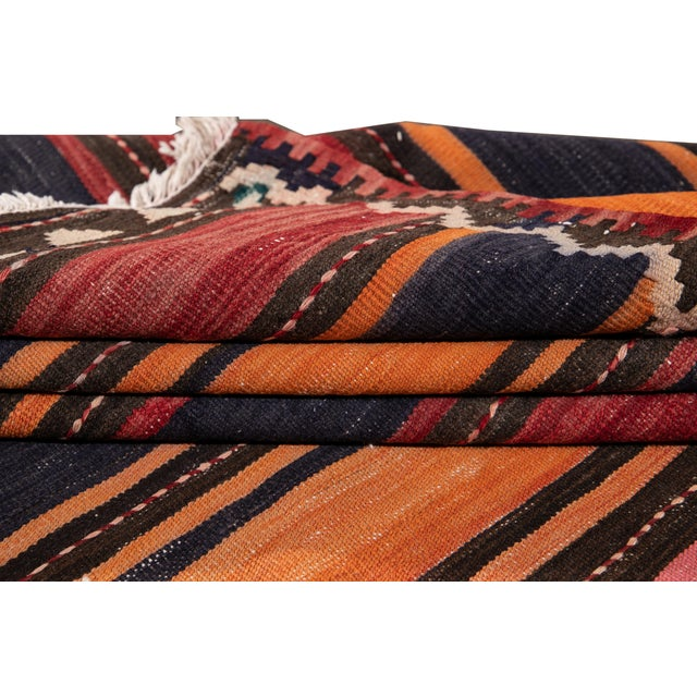 "Mid 20th Century Mid-20th Century Vintage Kilim Runner Rug 5' 2"" X 10' 10''. For Sale - Image 5 of 13"