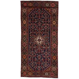 Vintage Mid-Century Persian Hamadan Runner Rug - 4′10″ × 9′11″ For Sale