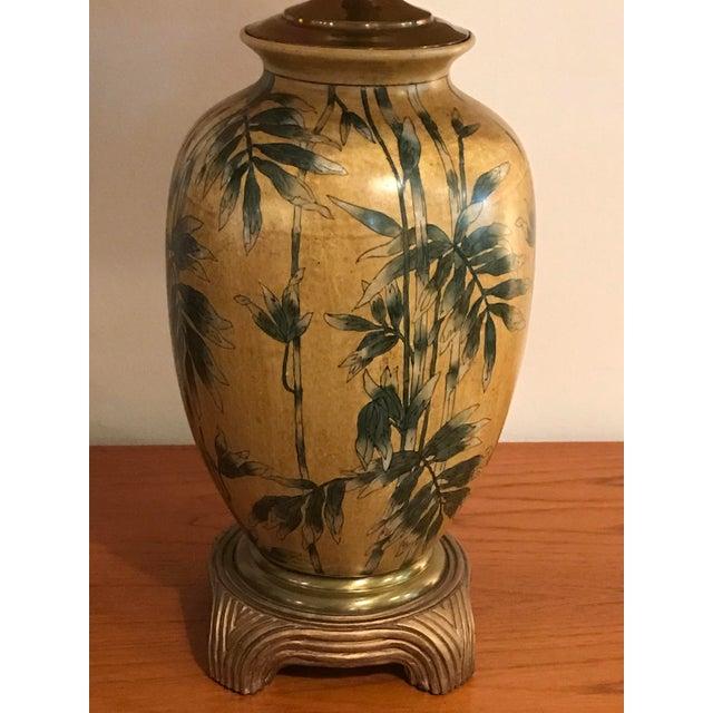 Vintage Wildwood Bamboo Ginger Jar Porcelain Table Lamp - Image 5 of 8