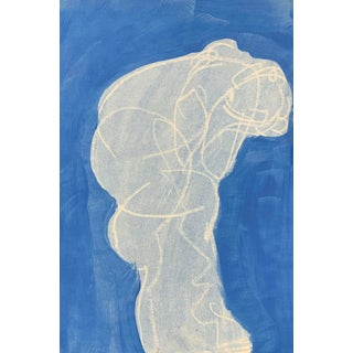 Figurative Drawing Ali in Blue IV 12x18 For Sale