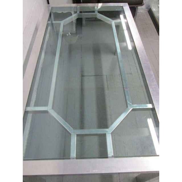 Mid-Century Modern Decorative Aluminium Table or Desk For Sale - Image 3 of 9