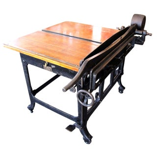 John Jacques & Sons Paper Box Cutting Table For Sale