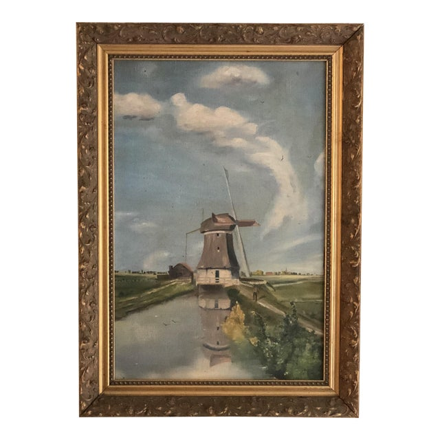 Antique Continental Impressionist Oil Painting For Sale