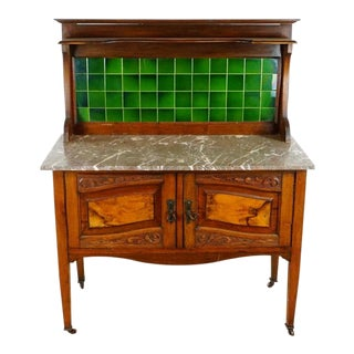 1920s Traditional Marble Top Dry Sink For Sale