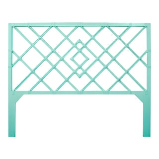 Darien Headboard King - Turquoise For Sale
