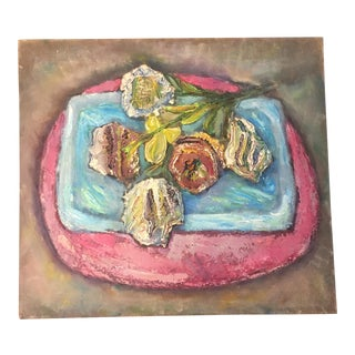 Vintage Modernist Original Still Life Painting