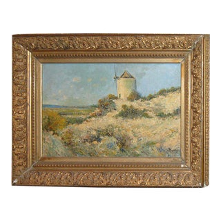 Belle Epoque Windmill Oil Painting on Canvas