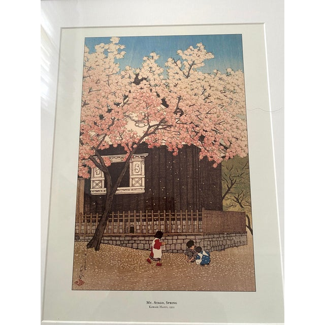 Wood Framed Japanese Woodblock Reproduction Prints After Kawase Hasui - Set of 3 For Sale - Image 7 of 13
