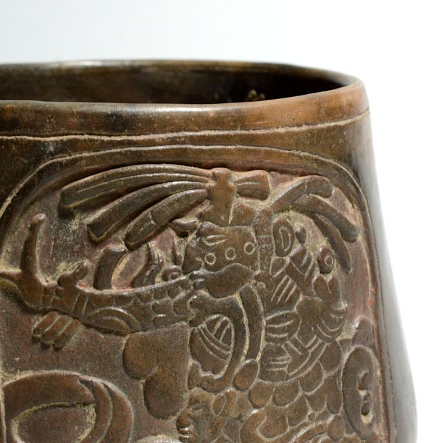 Mayan Terracotta Bowl For Sale - Image 4 of 5