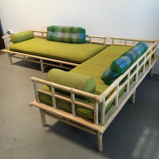 McGuire Rattan Daybed Set - Image 3 of 8