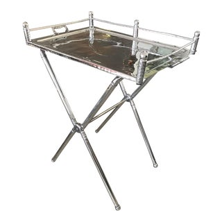 1940s Vintage Everlast Folding Aluminium Tray Table