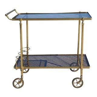 Maison Jansen Italian Brass Bar Cart
