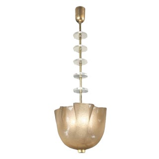 Italian Murano Hanging Crystal Lamp For Sale