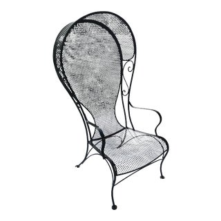 Russell Woodard Wrought Iron Sculptura Porter Chair
