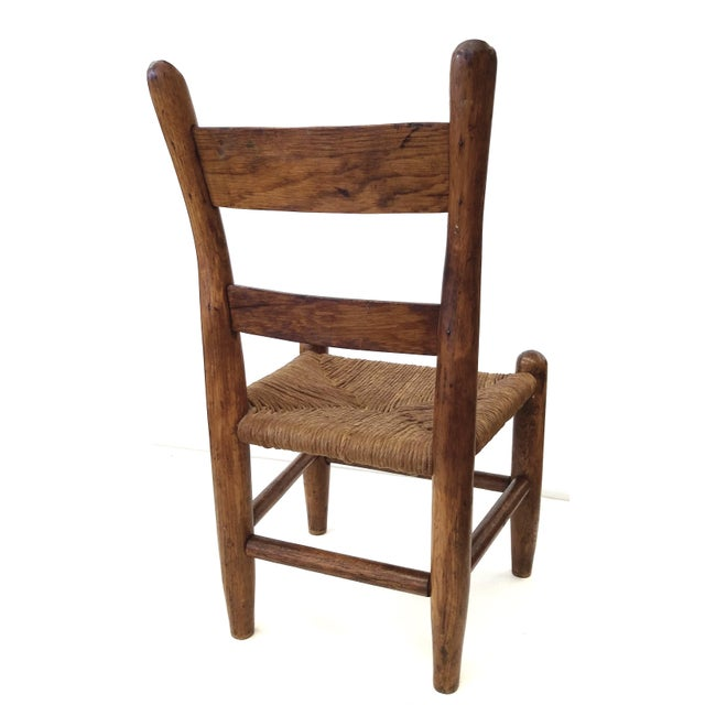 Antique French Farm Child's Chair - Image 7 of 10