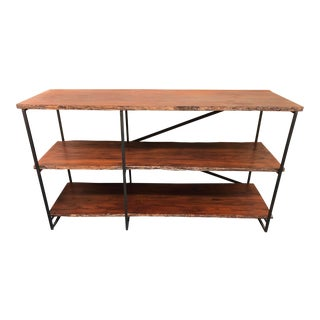 Industrial Reclaimed Wood 3-Tier Shelf