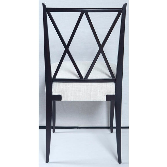 Tommi Parzinger Mid Century Tommi Parzinger Double 'X' Back Chairs- Set of 4 For Sale - Image 4 of 8