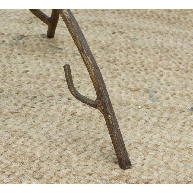 Faux Bois Branch Form Cocktail Table For Sale - Image 4 of 8