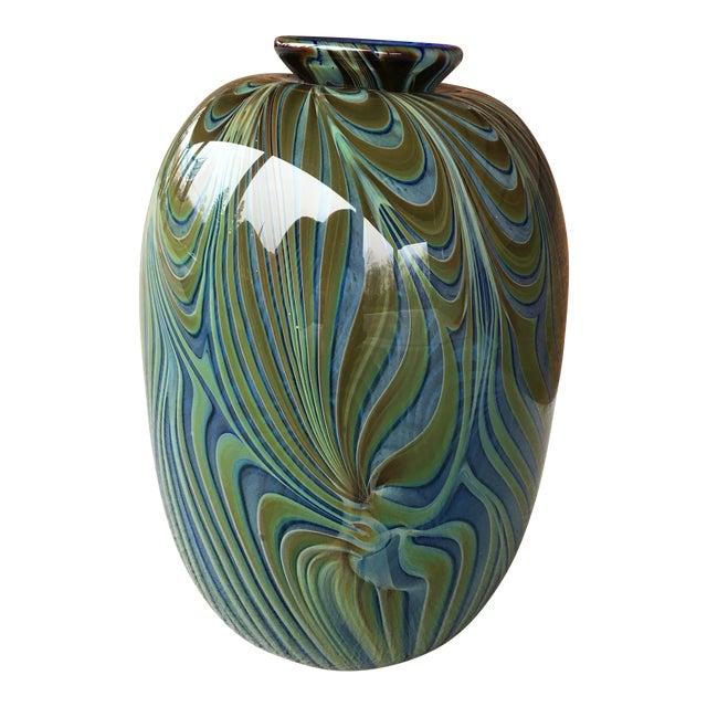1970s Craig Howell Art Glass Vase For Sale