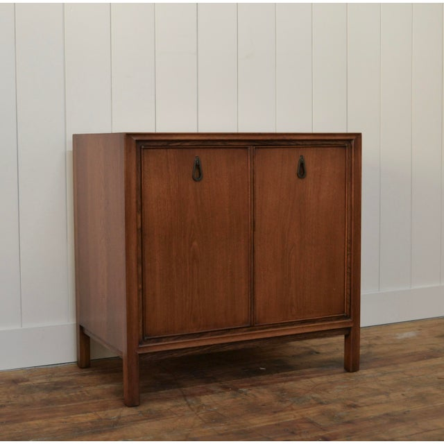 Mid-Century Modern John Stuart Two Door Cabinet For Sale - Image 3 of 7