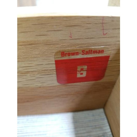 Mid-Century Brown Saltman Night Stand For Sale - Image 12 of 13