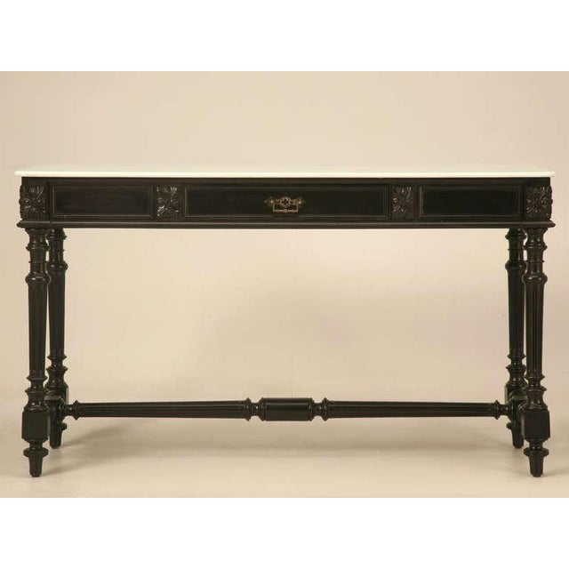Ebonized Antique French Louis XVI Sofa Table For Sale In Chicago - Image 6 of 10
