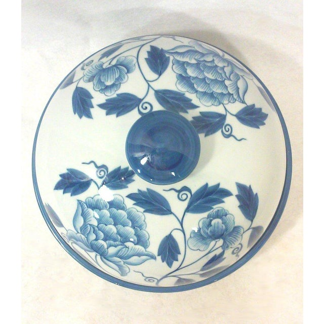Maitland-Smith Dome Covered Peony Dish - Image 2 of 4