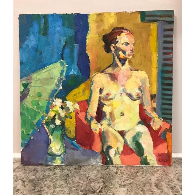 Vintage Nude Oil Portrait For Sale - Image 10 of 10