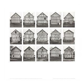 "Bernhard and Hilla Becher Half-Timbered Houses 27.5"" X 27.5"" Poster 2003 Minimalism Black & White For Sale"