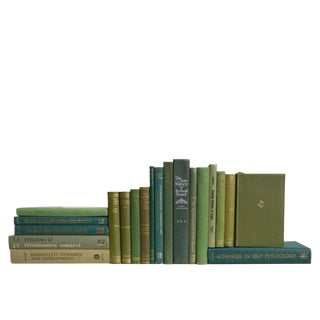 Midcentury Boxwood Psychology Book Set, S/20 For Sale