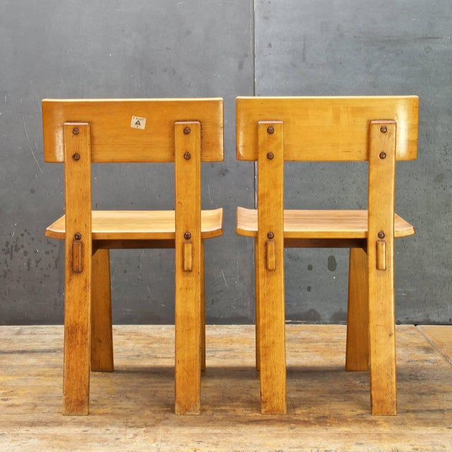 1930s Vintage Russel Wright American Modern Furniture Design Chairs- a Pair For Sale In Washington DC - Image 6 of 10