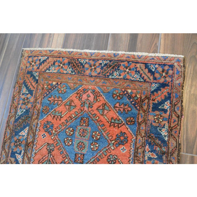 "Antique Persian Heriz Rug - 3' x 5'7"" - Image 9 of 11"
