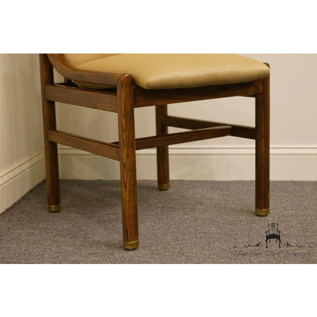 Tan Henredon Mid-Century Modern Solid Walnut Dining / Side Chair For Sale - Image 8 of 13