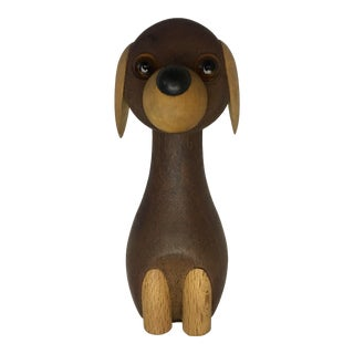 Danish Wooden Dog by Kay Bojesen For Sale