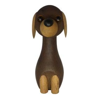 Danish Wooden Dog by Kay Bojesen For Sale