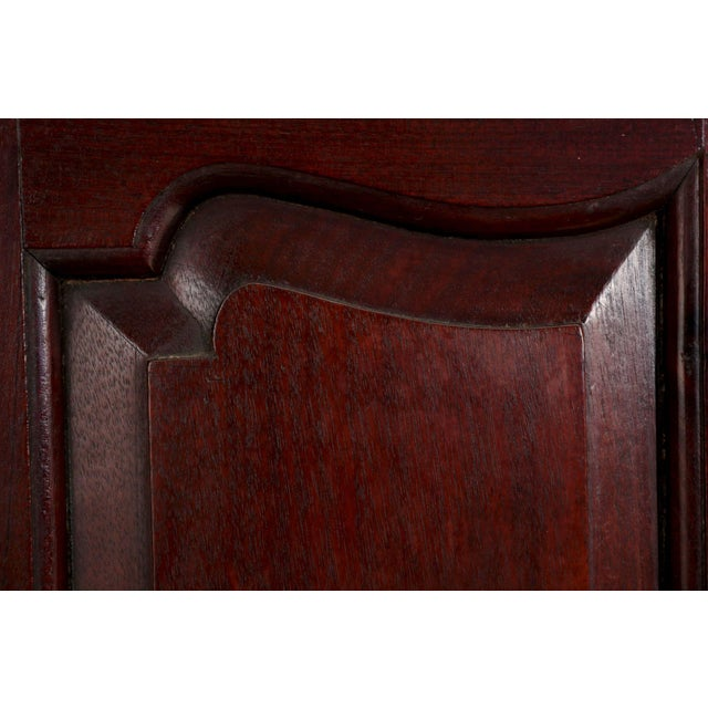 Brass 19th Century English Georgian Mahogany Hanging Corner Cabinet Cupboard For Sale - Image 7 of 11