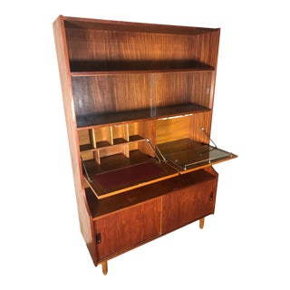 Mid Century Teak Display Cabinet Secretary and Bar by Ellman Furniture For Sale