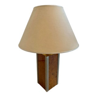 1970s Tommaso Barbi Brass Table Lamp, Italy For Sale