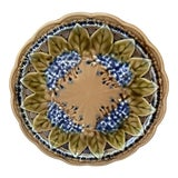 Image of 1890 Villeroy & Boch Majolica Reticulated Lilac Plate For Sale