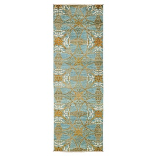 "Suzani Hand Knotted Runner - 2'7"" X 8'3"" For Sale"