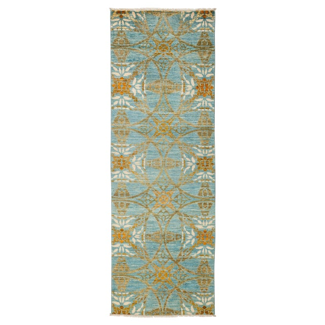 """Suzani Hand Knotted Runner - 2'7"""" X 8'3"""" For Sale"""