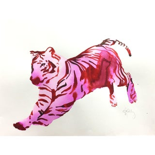 Violet Tiger Contemporary Painting For Sale