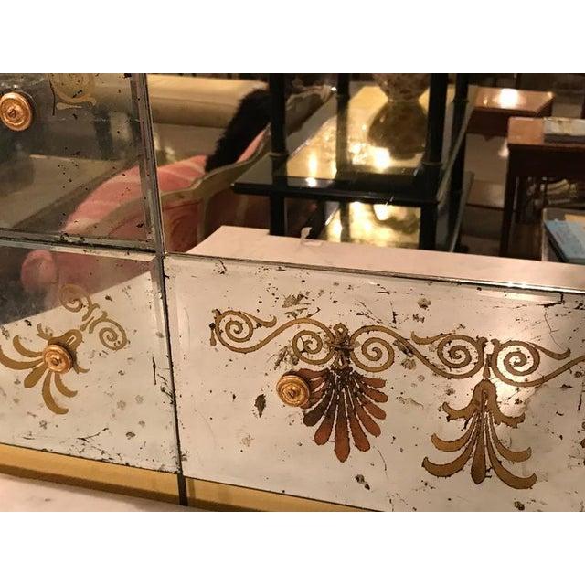 Hollywood Regency Hollywood Regency Églomiséd Framed Mirrors - A Pair For Sale - Image 3 of 6