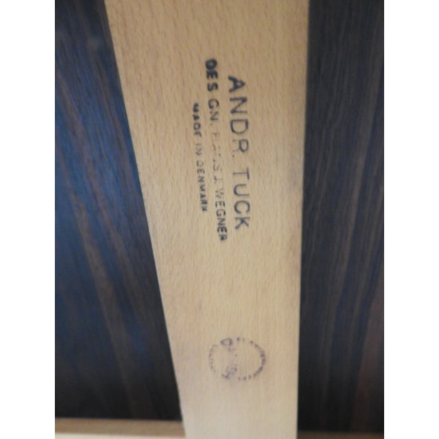 Hans Wegner for Andreas Tuck AT-322 Rosewood Dining Table For Sale In Philadelphia - Image 6 of 9