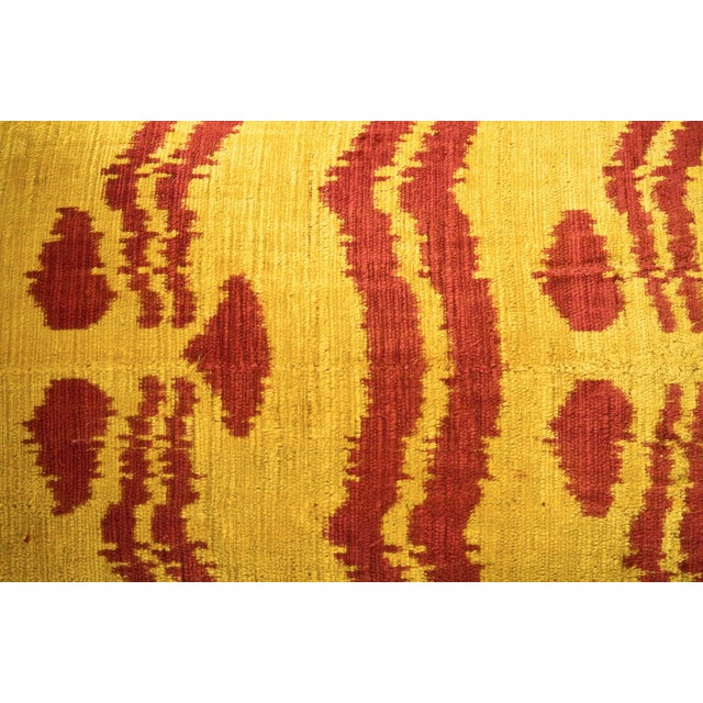 Bhangra Yellow and Red Silk Pillows - A Pair - Image 3 of 3
