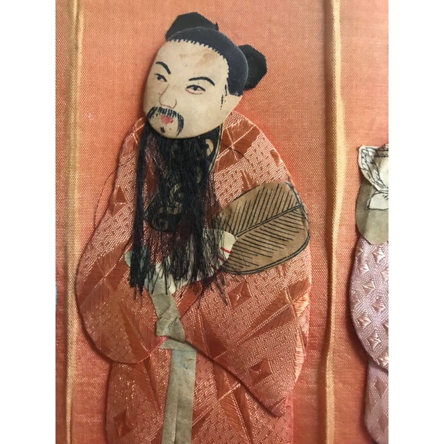 Blue 19th Century Framed Chinoiserie Figures For Sale - Image 8 of 12
