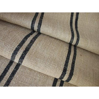 "Rustic Heavy Hemp Grain Sack Fabric By The Yard - 24x36"" For Sale"