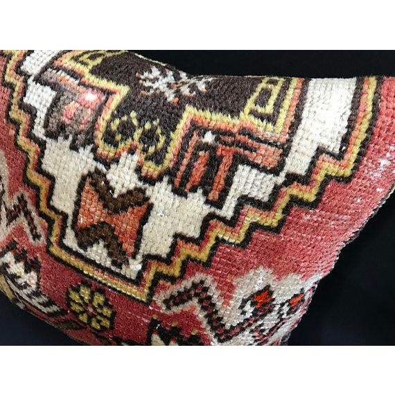 Decorative Vintage Antique Pillow Cover For Sale In Austin - Image 6 of 8