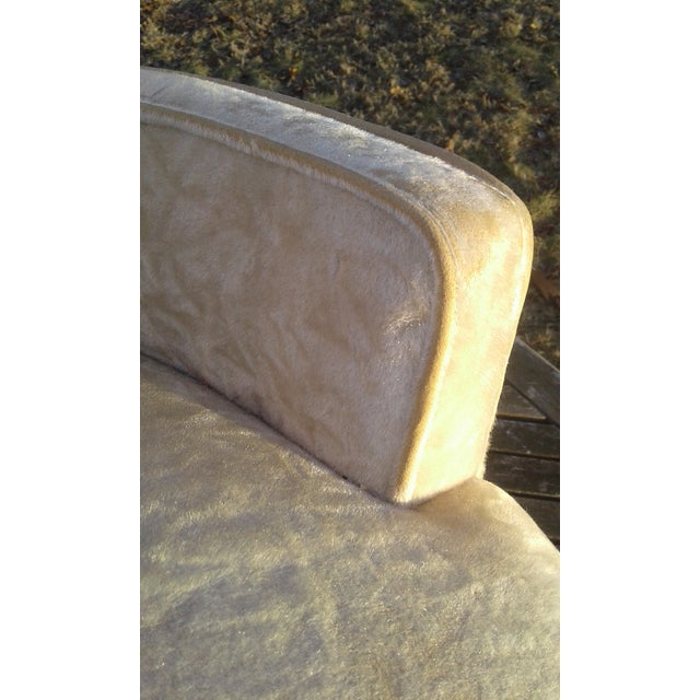 Vintage Highback Mohair Chair - Image 4 of 7